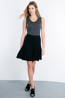 Kinross Cashmere | Fit & Flare Skirt