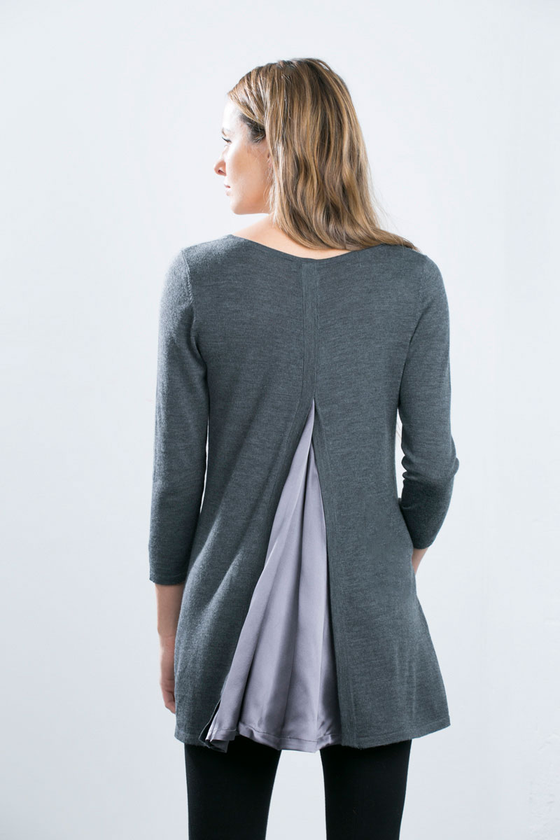 Kinross Cashmere | Mixed Media Scoopneck Pullover