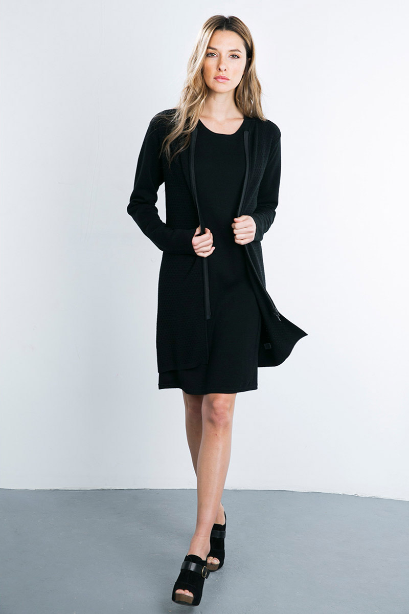 Kinross Cashmere   Double Knit Zip Duster
