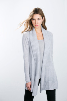 Kinross Cashmere | Cardigan w/ Drop Stitch Placket