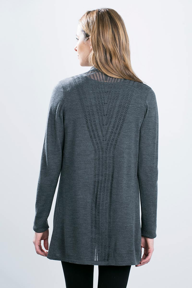 Kinross Cashmere   Placed Pointelle Duster