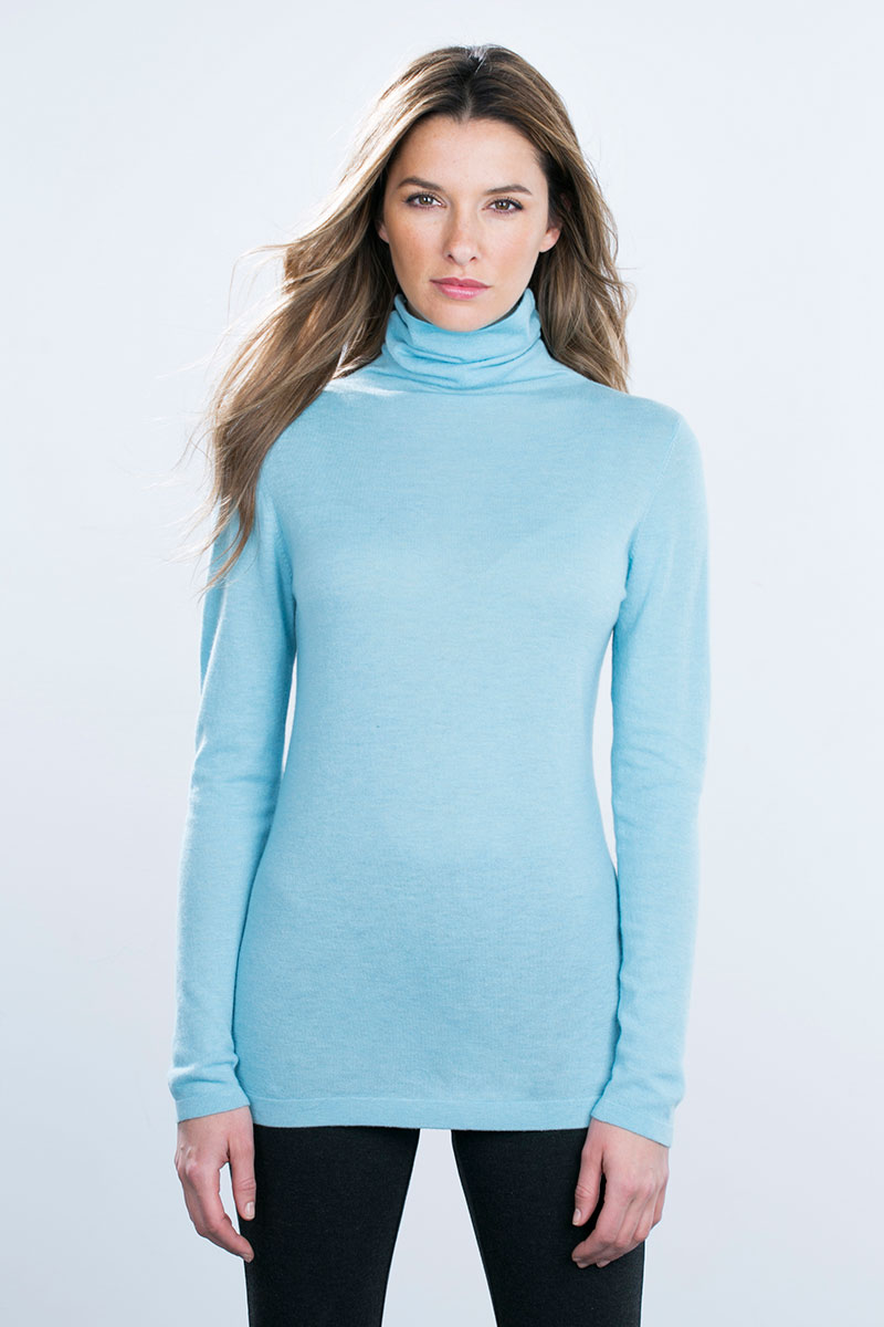 Kinross Cashmere | Worsted Turtleneck