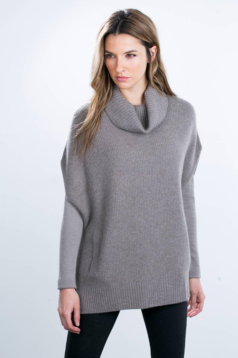 Kinross Cashmere | Rib Pullover Cowl Vest