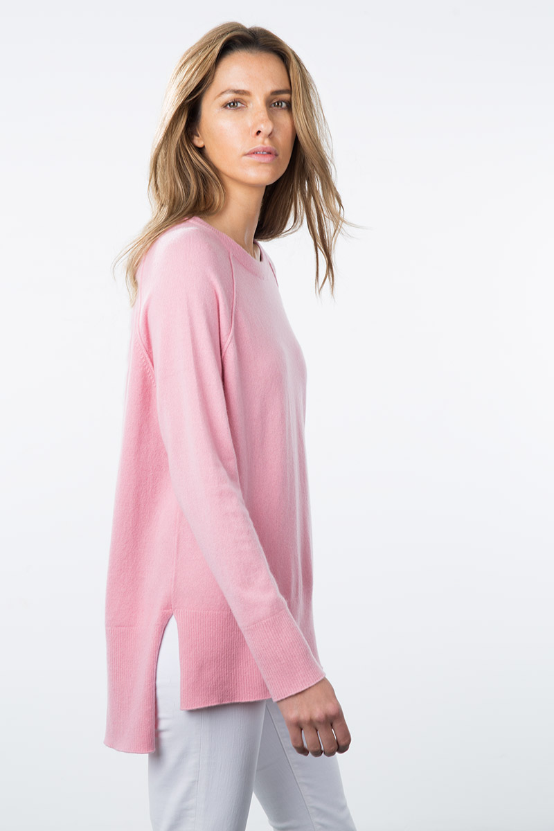 Kinross Cashmere | Resort 2015 |High-Low Sweatshirt
