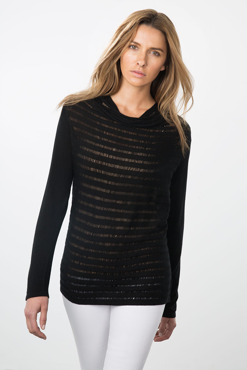 Kinross Cashmere | Resort 2015 | Drape Drop Needle Pullover
