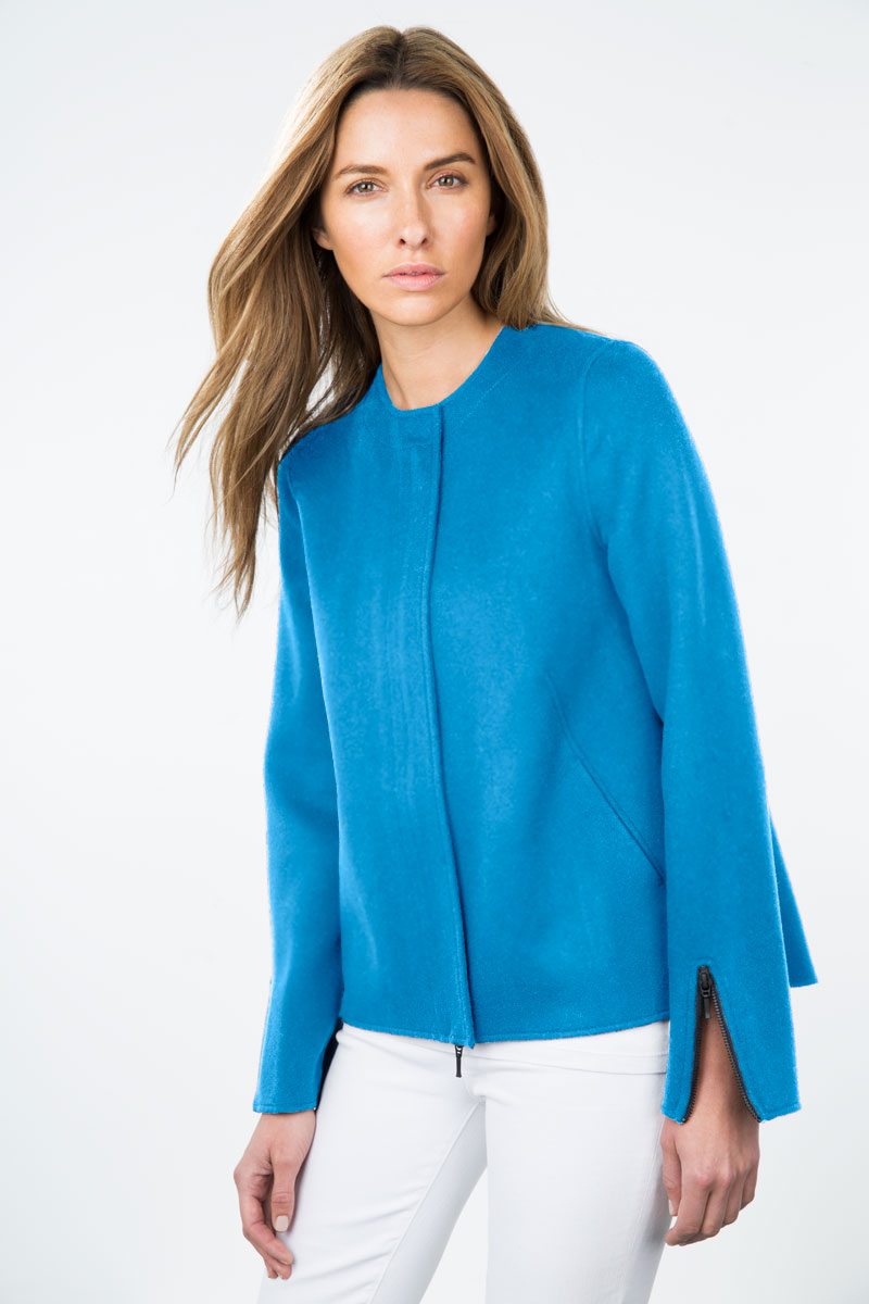 Kinross Cashmere | Resort 2015 | Zip Jacket