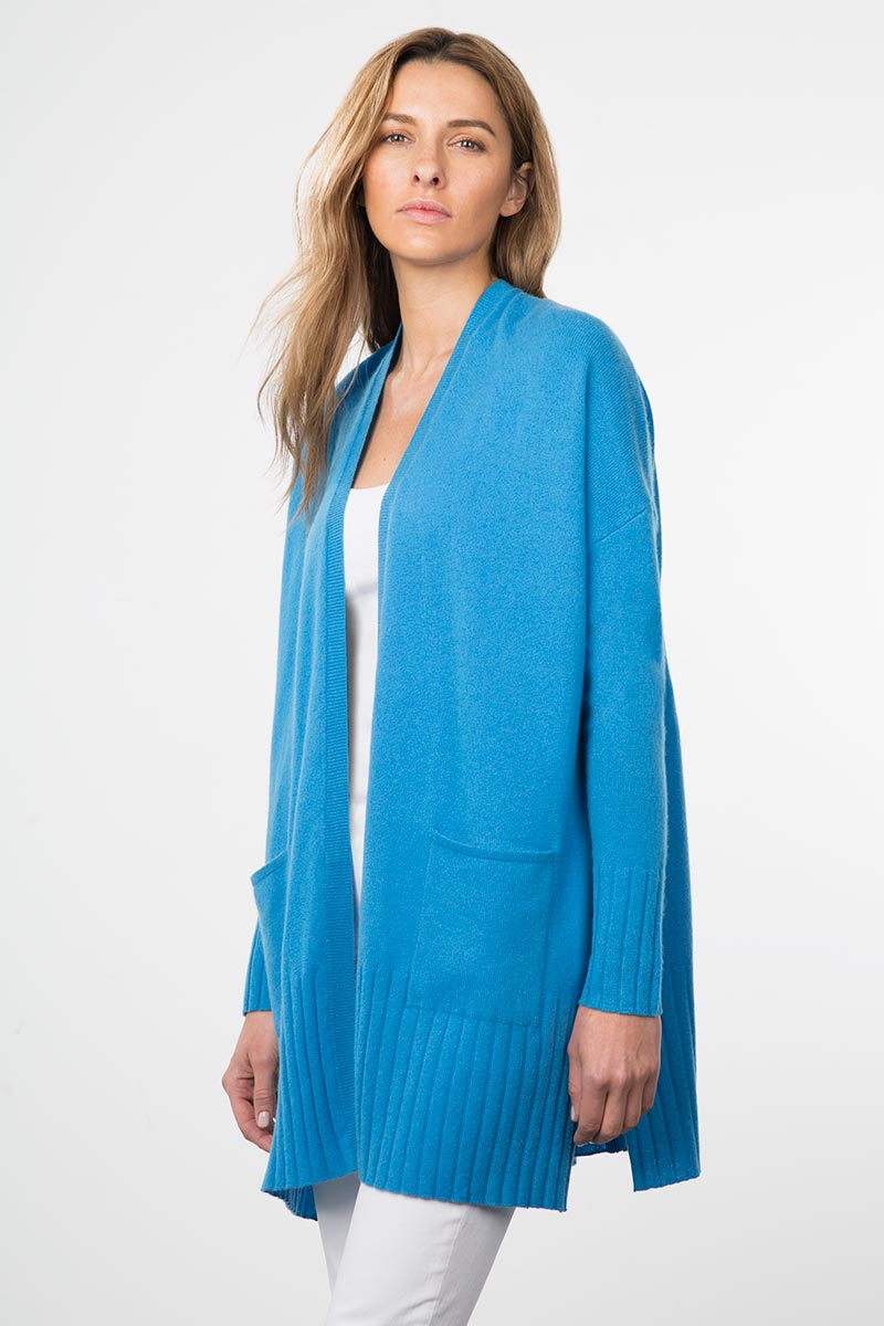 Kinross Cashmere | Resort 2015 | Rib Trim Duster