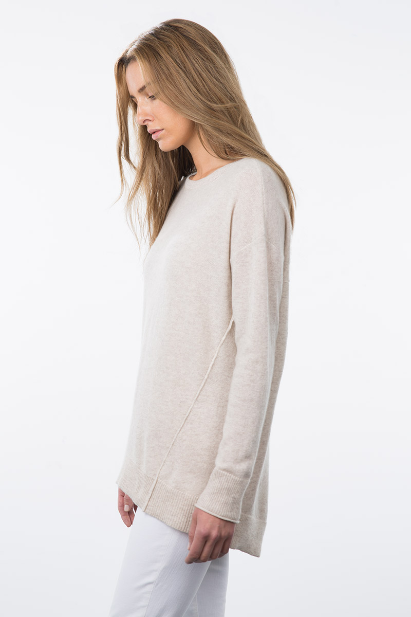 Kinross Cashmere | Resort 2015 |Exposed Seam Easy Balletneck