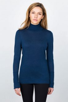 Worsted Turtleneck - Moonlight Kinross Cashmere 100% Cashmere