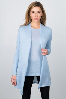 Worsted Long Drape Cardigan Kinross Cashmere 100% Cashmere