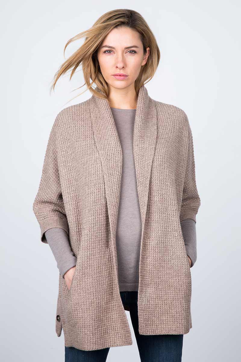 Texture Cocoon Cardigan Kinross Cashmere