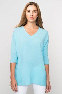 Kinross Cashmere | Resort 2016 | 3/4 Sleeve Deep Vee Pullover