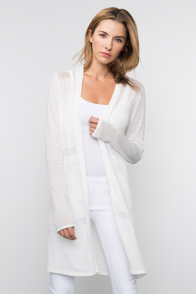 Kinross Cashmere | Spring 2016 | Long Textured Duster