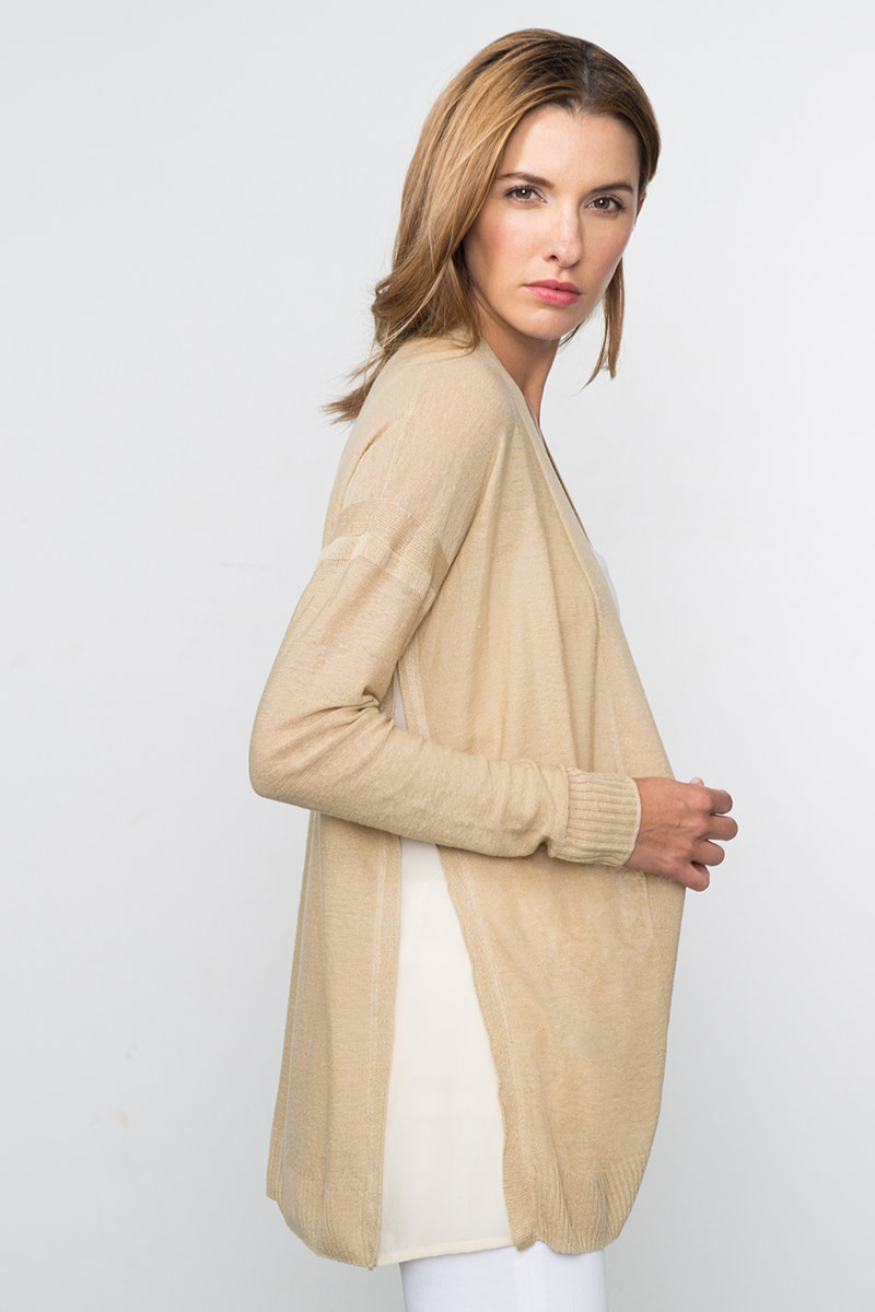 Kinross Cashmere | Spring 2016 | Mixed Media Easy Cardigan