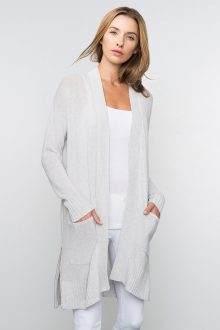 Kinross Cashmere | Spring 2016 | High Vent Cardigan with Zippers