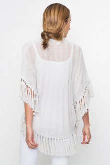 Kinross Cashmere | Spring 2016 | Curved Poncho with Fringe