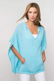 Kinross Cashmere | Spring 2016 | Hooded Poncho