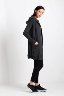 Worsted Hooded Cardigan Kinross Cashmere 100% Cashmere