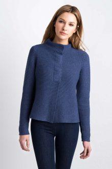 Garter Stitch Cardigan Kinross Cashmere 100% Cashmere