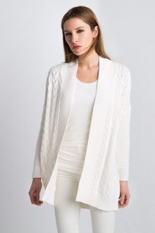 Easy Cable Cardigan Kinross Cashmere 100% Cashmere