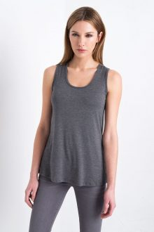 Relaxed Tank - Charcoal Kinross Cashmere 100% Cashmere