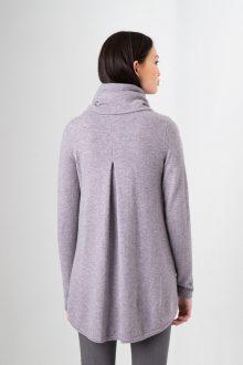Cowl Pleat Back Tunic Kinross Cashmere 100% Cashmere