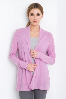 Swing Back Cardigan Kinross Cashmere 100% Cashmere