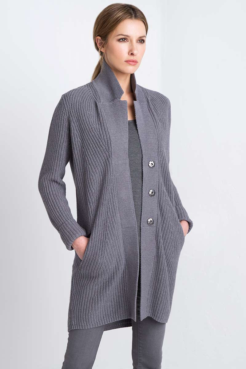 Notch Collar Duster Kinross Cashmere 100% Cashmere