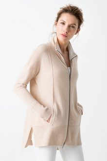 Easy Zip Mock Cashmere Cardigan Women's Resort 2017 - Kinross Cashmere - 100% Cashmere