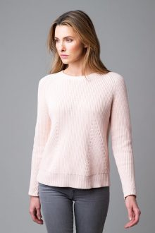 Fashion Rib Pullover - Kinross Cashmere