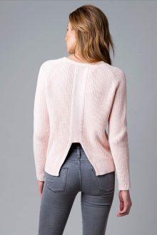 Fashion Rib Pullover Back - Kinross Cashmere