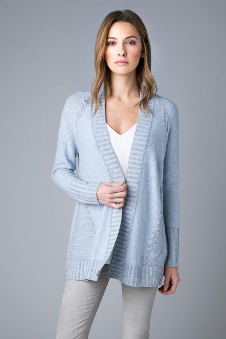 Plaited Cable Cardigan - Kinross Cashmere