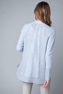 Plaited Cable Cardigan Back - Kinross Cashmere