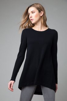 Mixed Yarn Tie Back Tunic - Kinross Cashmere