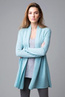 Double Trim Cardigan - Kinross Cashmere
