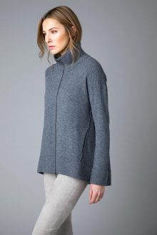 Sporty Zip Cardigan - Kinross Cashmere