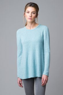 Rib Swing Pullover - Kinross Cashmere