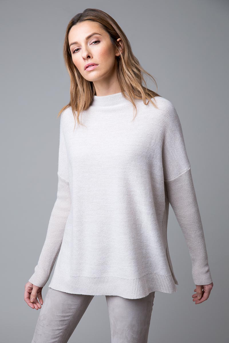 Easy Marl Funnel Neck - Kinross Cashmere