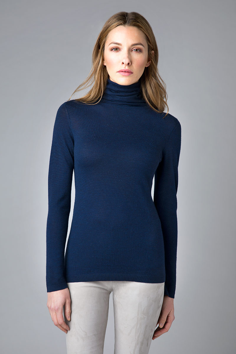 Worsted Long Sleeve Funnel - Kinross Cashmere