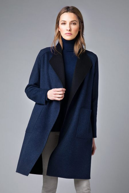 Reversible Drape Coat - Kinross Cashmere