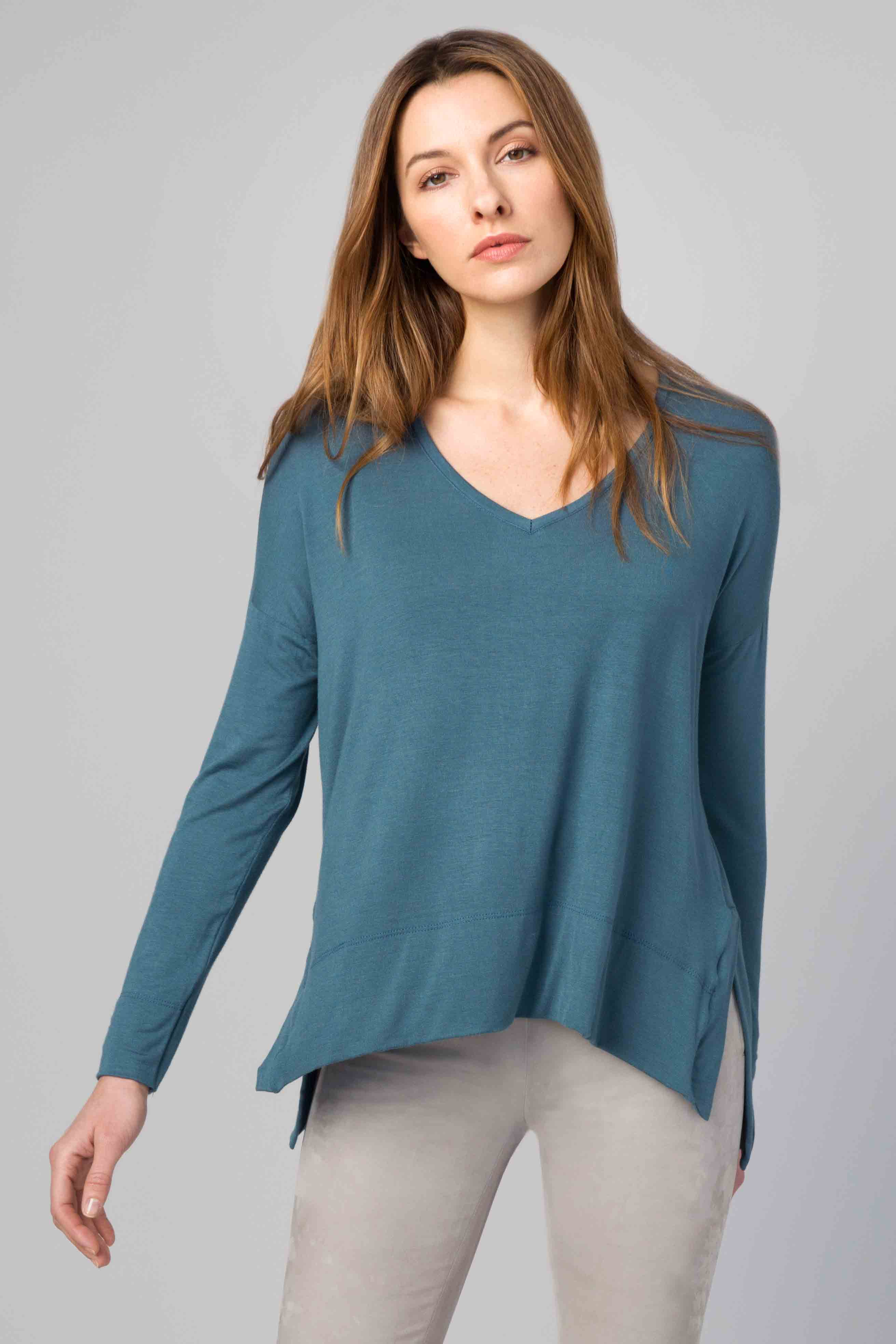 Relaxed Vee - Kinross Cashmere
