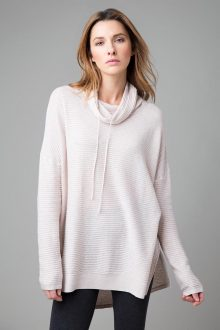 Textured Drawstring Tunic - Kinross Cashmere
