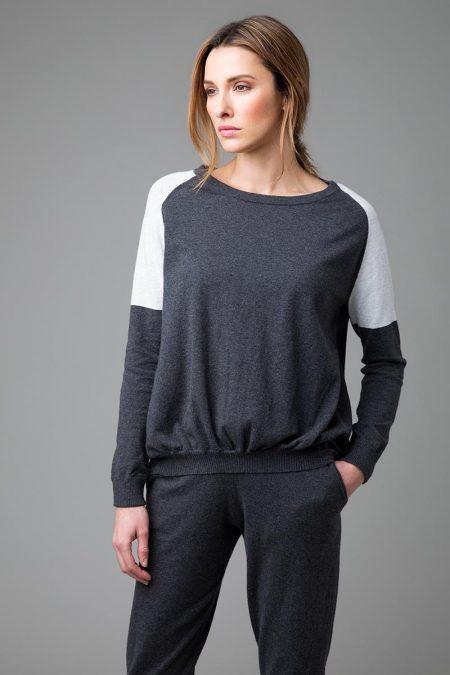 Ruched Sweatshirt - Kinross Cashmere