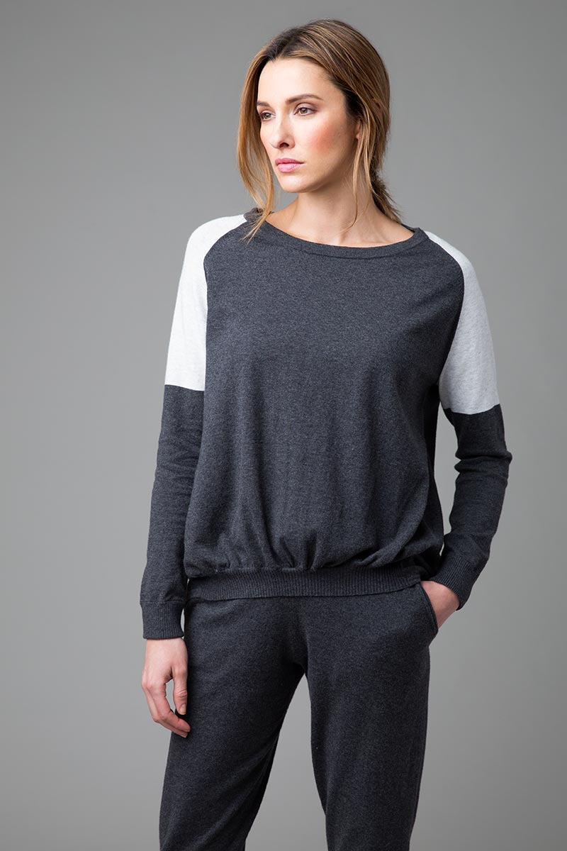 Ruched Sweatshirt - Kinross Cashmere