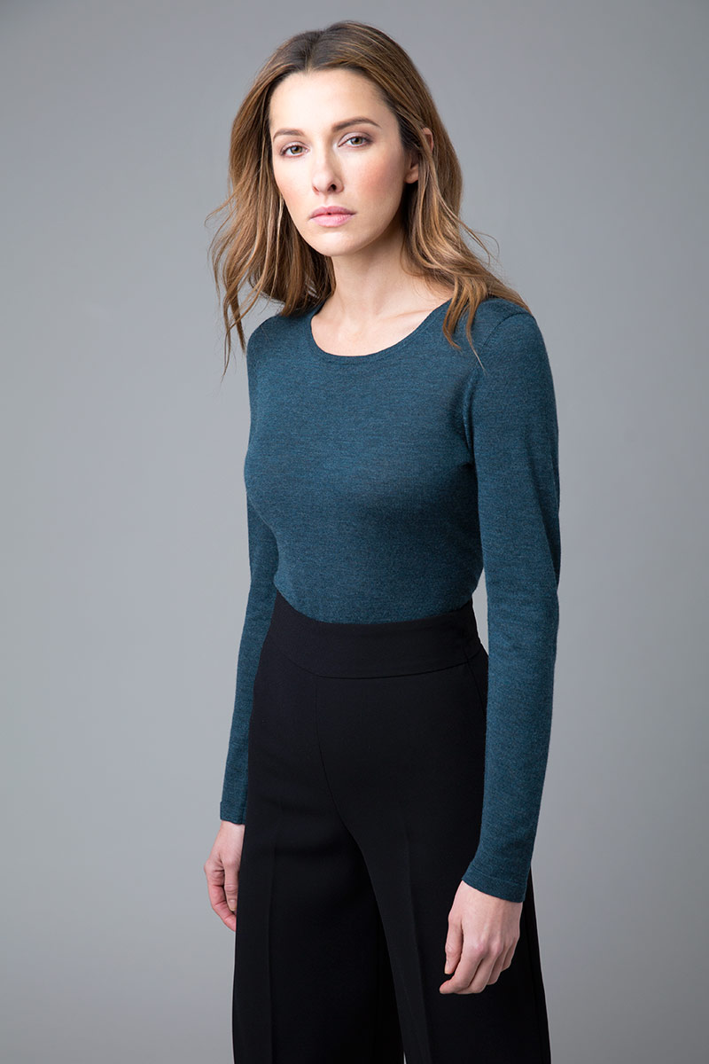 Worsted Crewneck - Kinross Cashmere