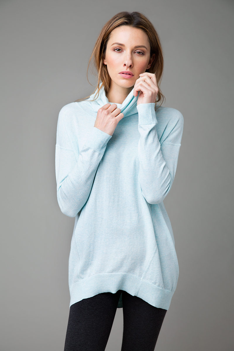 Cowl Neck Pullover - Kinross Cashmere