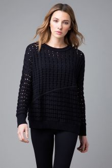 Open Stitch Pullover - Kinross Cashmere