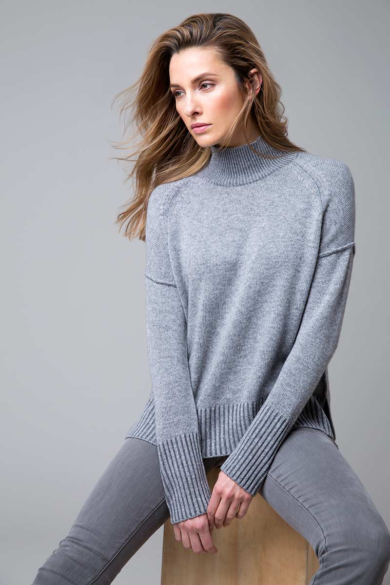 Plaited Turtleneck - Kinross Cashmere