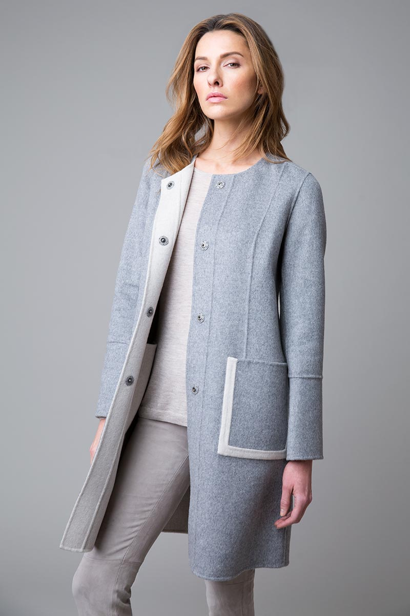 Reversible Snap Coat - Kinross Cashmere