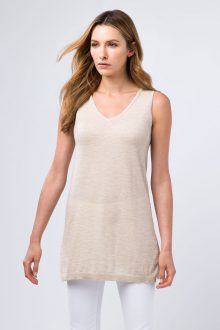 Worsted Front to Back Tank - Kinross Cashmere